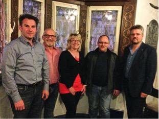 Foto: Udo Adriany, Alwin Brenner (Fraktionsvorsitzender), Elke Backes, H.P. Diel, Klaus Jüngling, (v.li.)